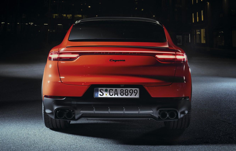 Photo wallpaper Porsche, rear view, Coupe, Turbo, Cayenne, 2019