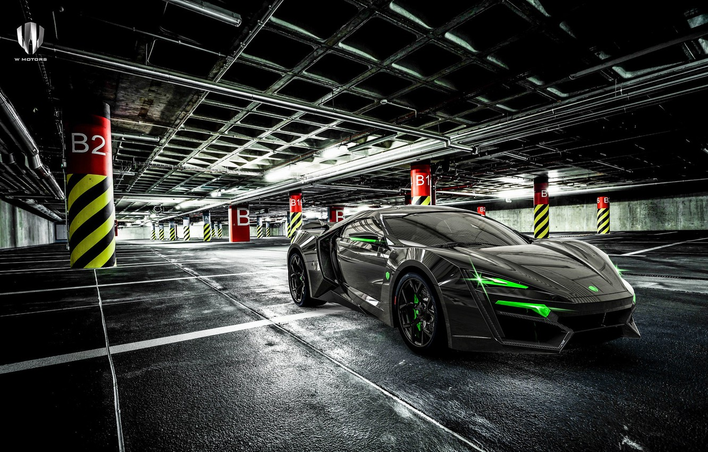 Photo wallpaper Auto, Machine, Supercar, Rendering, Concept Art, Sports car, Parking, Lykan, Game Art, Transport & Vehicles, …