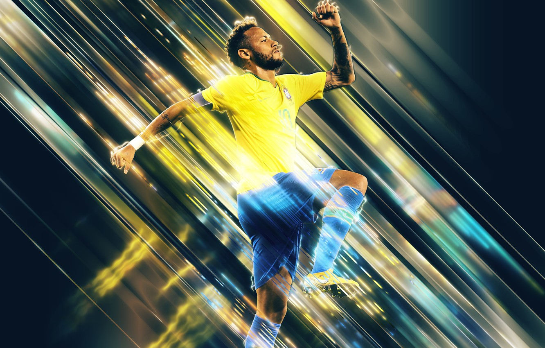 Photo wallpaper Football, Brazil, Soccer, Brasil, Barca, Neymar, PSG, Neymar Jr, Neymar Junior, Saints