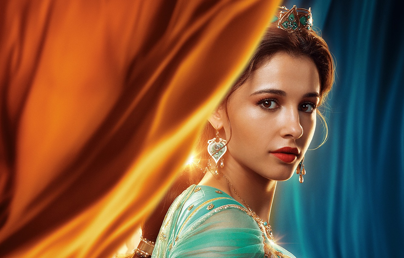 Photo wallpaper look, girl, decoration, Princess, Naomi Scott, Princess Jasmine, In Aladdin