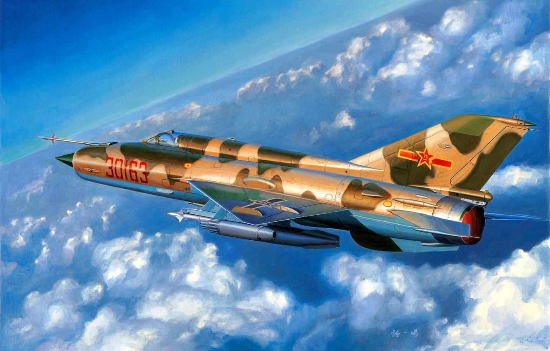 Photo wallpaper China, Chengdu J-7, The MiG-21, Air China