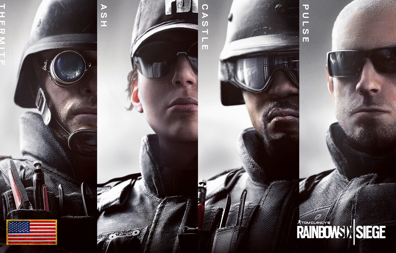 Photo wallpaper USA, Pulse, SWAT, Castle, Ash, FBI, Special forces, Special Force, Thermite, Raibow Six Siege
