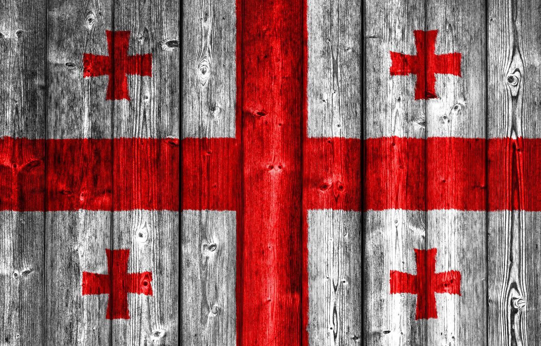 Photo wallpaper Wood, Flag, Georgia, Cross, Georgian, Flag Of Georgia, Ensign, Gerogian Flag, Flag Of Georgia On …