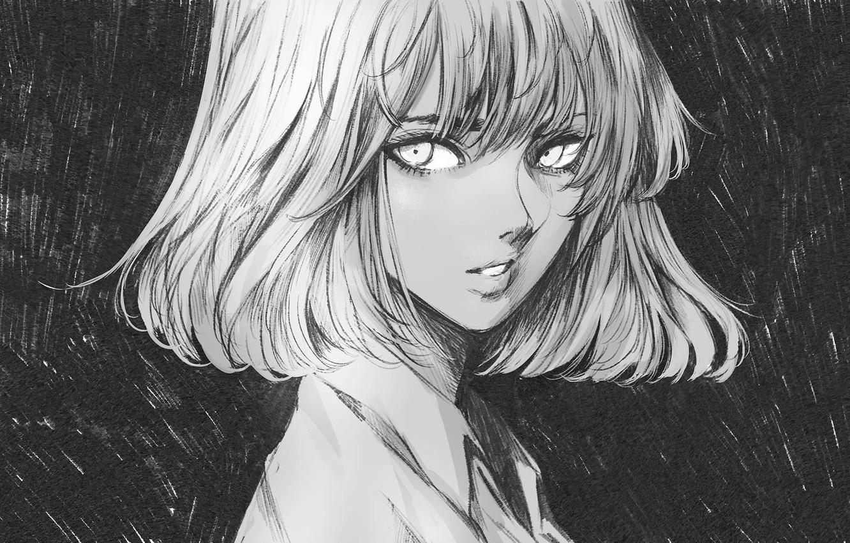 Photo wallpaper look, girl, figure, haircut, anime