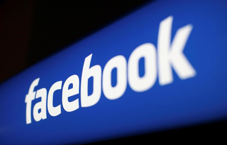 Photo wallpaper blur, logo, facebook, fon, social network, Facebook