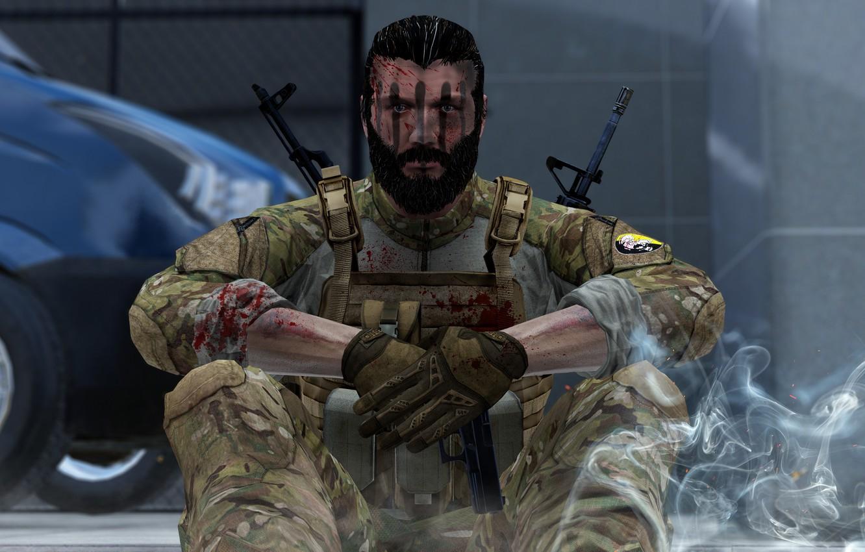 Wallpaper M16, AKM, ARMA, MSF, GAME, AK, SITTING, ArmA3