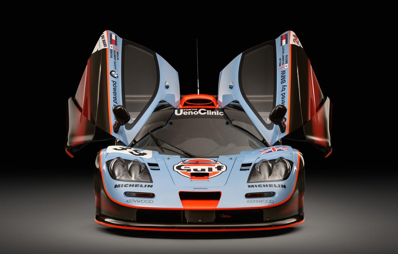 Photo wallpaper McLaren, GTR, Door, Lights, 1993, 24 Hours of Le Mans, 24 hours of Le Mans, …