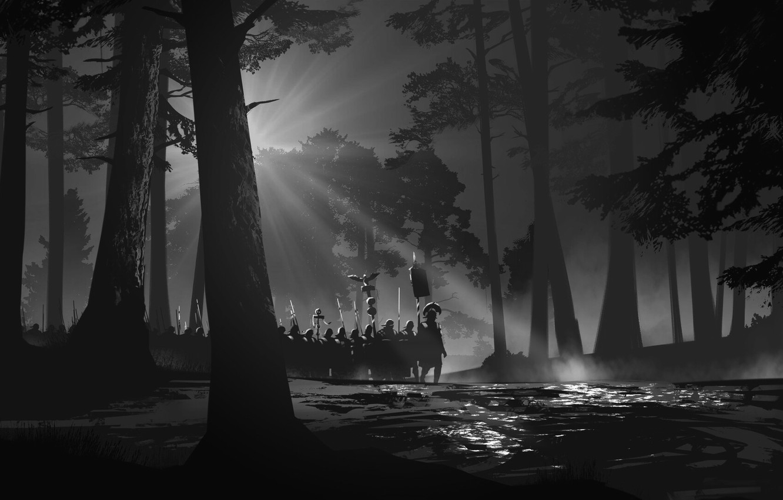 Wallpaper Trees Forest Soldiers Art Art Stroy Legion