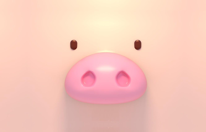 Photo wallpaper rendering, pig, Tzuyu Kao