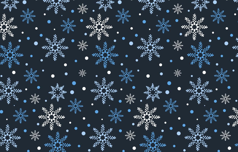 Photo wallpaper winter, snow, snowflakes, background, blue, Christmas, blue, winter, background, snow, snowflakes