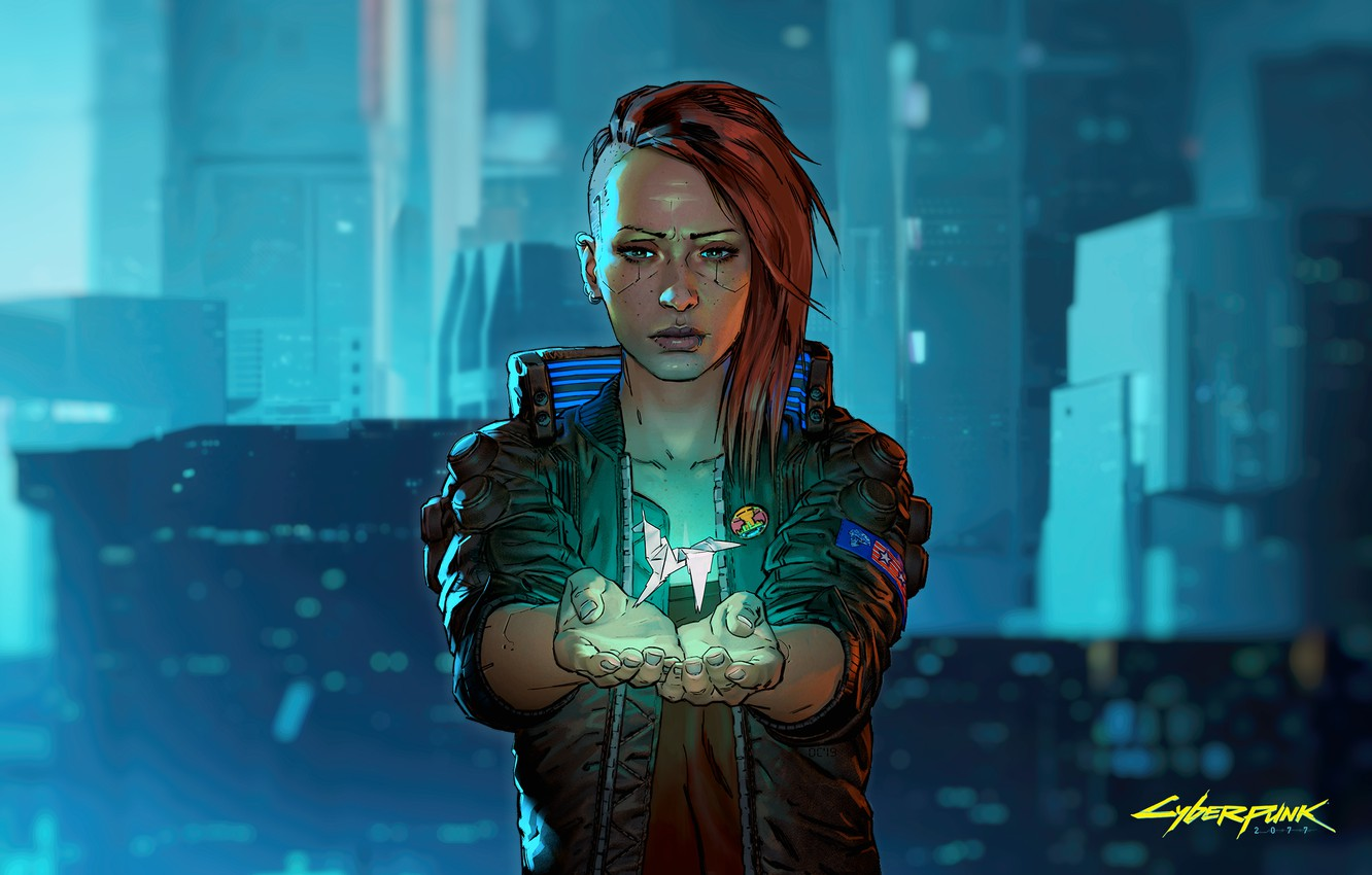 Wallpaper Girl Origami Cyberpunk 2077 Cyberpunk Cyberpunk 2077 Images For Desktop Section Igry Download