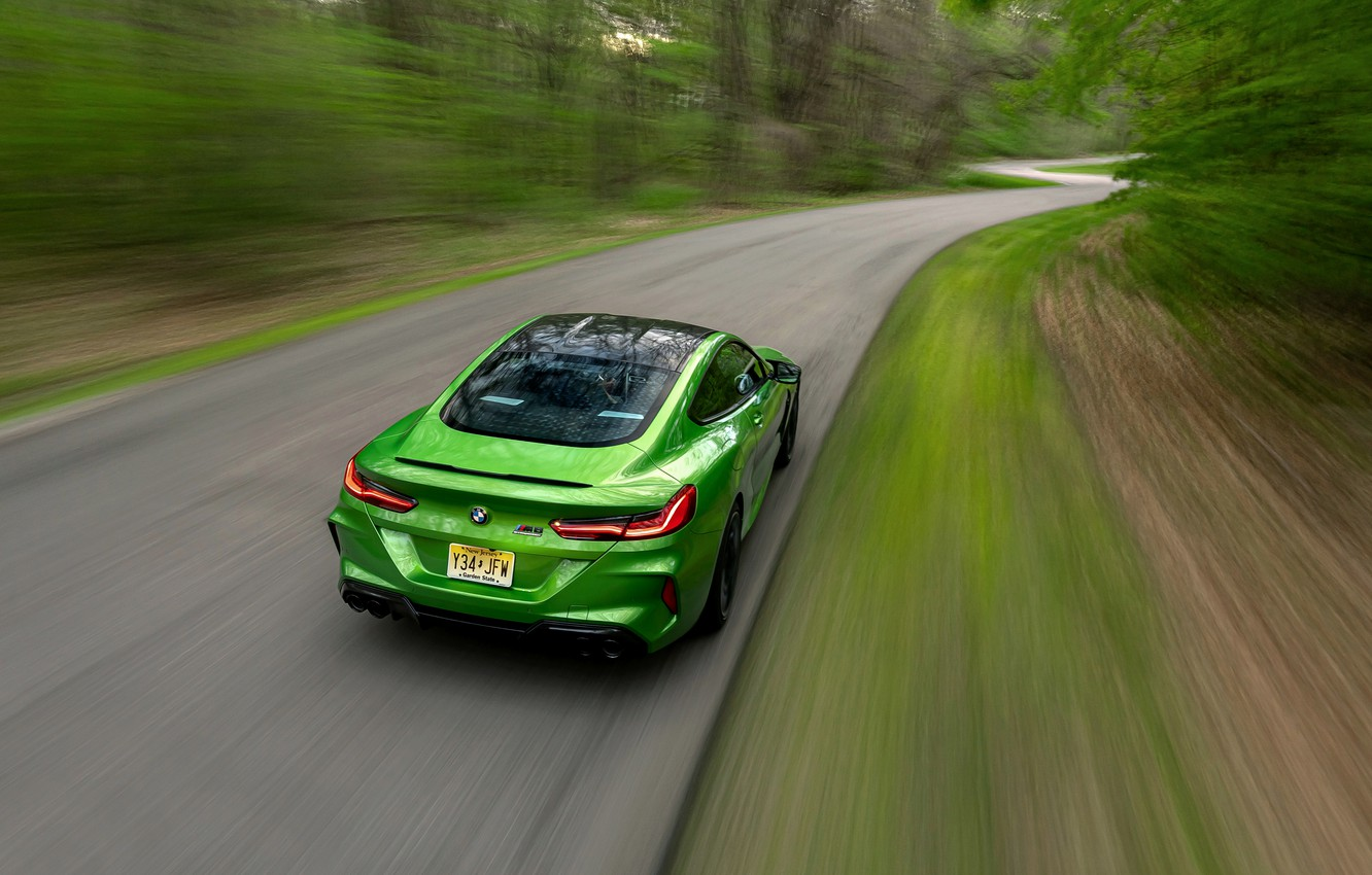 Photo wallpaper coupe, BMW, Coupe, on the road, 2020, BMW M8, two-door, M8, M8 Competition Coupe, M8 …