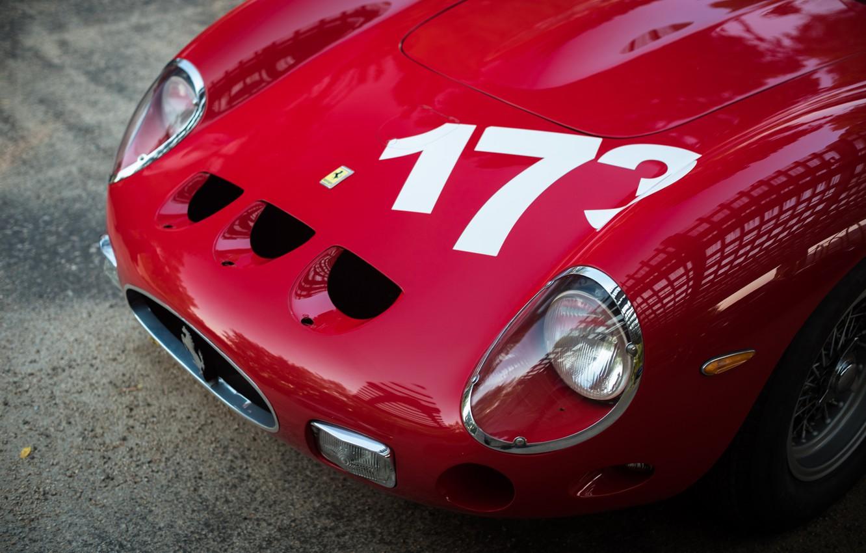 Photo wallpaper Red, The hood, Ferrari 250 GTO