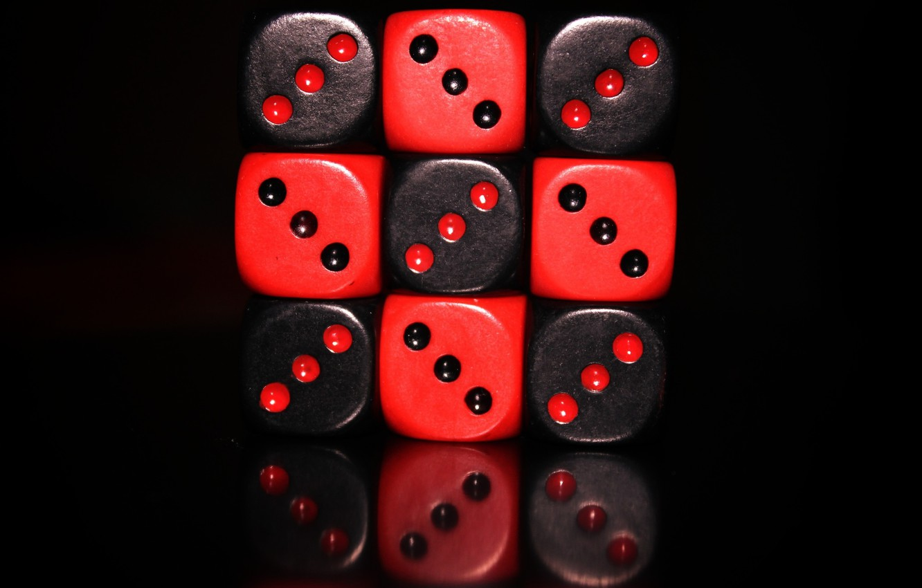 Photo wallpaper black, Bones, Cube, red., the game, Cube - The Game