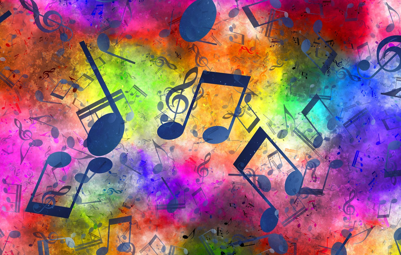 Photo wallpaper notes, music, treble clef