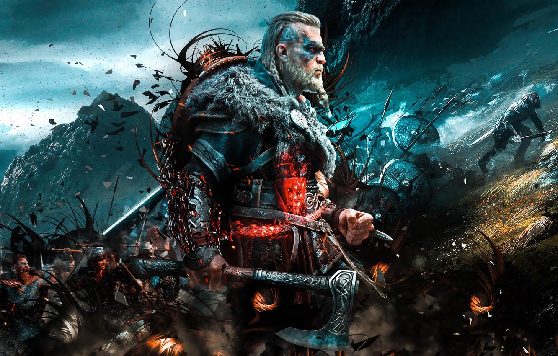 Photo wallpaper Assassin's Creed, Viking, Ubisoft Montreal, 2020, Valhalla, Assassin's Creed Valhalla