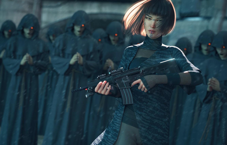 Photo wallpaper Characters, Science Fiction, Cyberpunk, Digital 3D