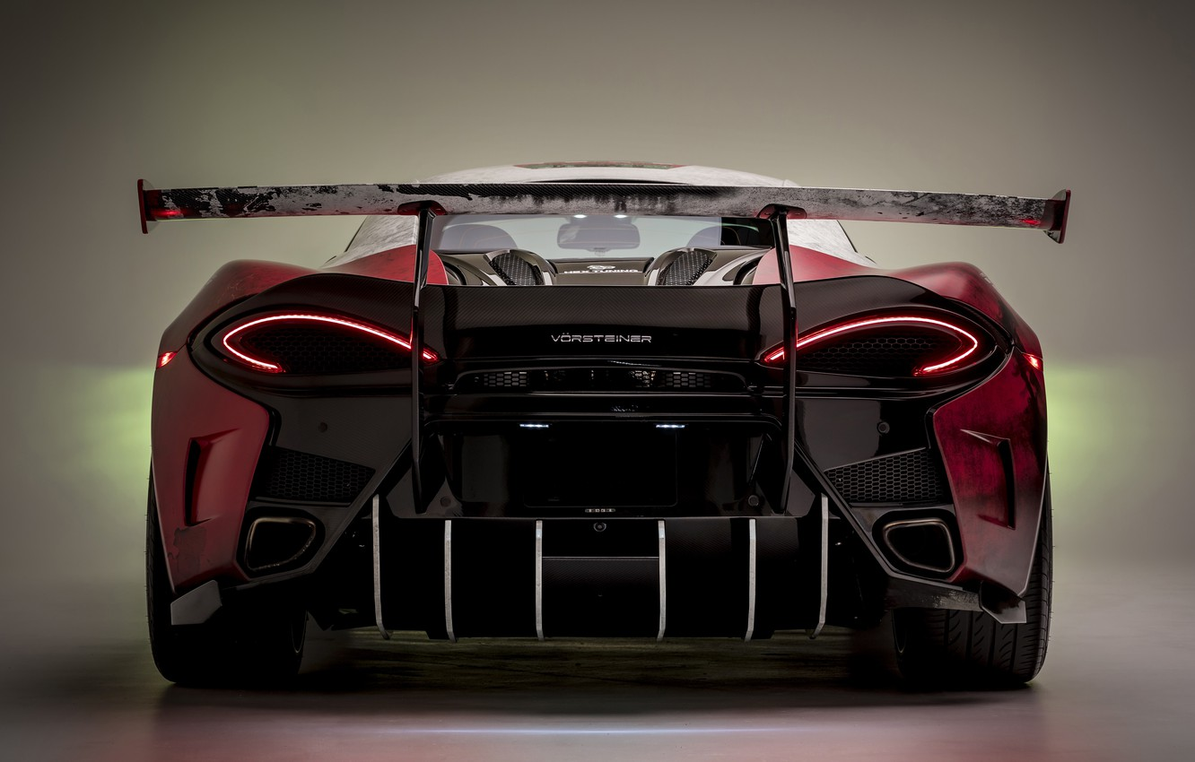Photo wallpaper McLaren, rear view, Vorsteiner, 2018, Marlboro, 570S