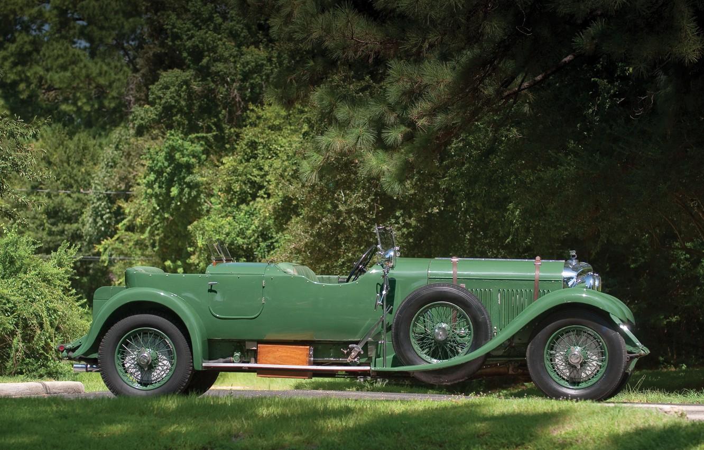 Photo wallpaper Vintage, Retro, Side view, British Car, 1931 Bentley 4 14