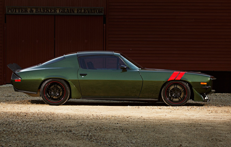 Photo wallpaper Muscle, Camaro, Vehicle, Profile