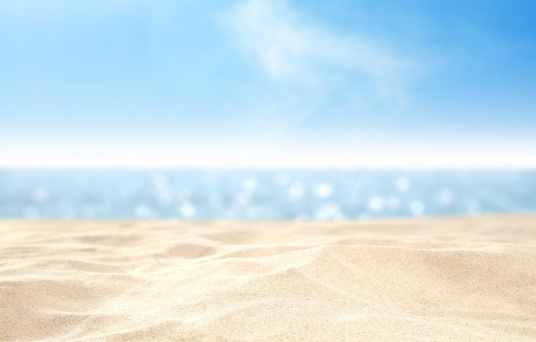 Photo wallpaper sand, sea, beach, summer, the sky, water, macro, landscape, nature, heat, the ocean, coast, heat, …