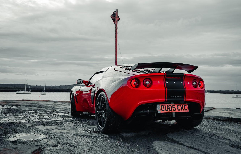 Photo wallpaper car, machine, red, Lotus, Lotus, sports car, sportcar, Requires