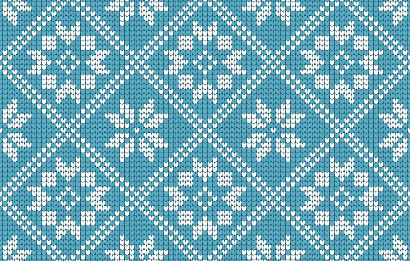 Photo wallpaper winter, snowflakes, background, blue, pattern, Christmas, Christmas, blue, winter, background, pattern, snowflakes, knitted, knitted, seamles