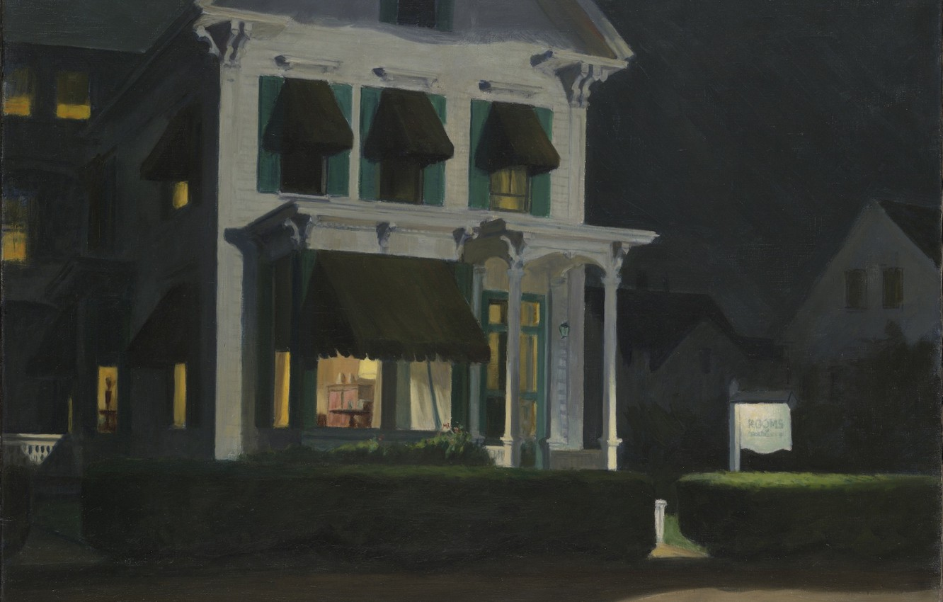 Photo wallpaper Edward Hopper, 1945, Rooms for Tourists