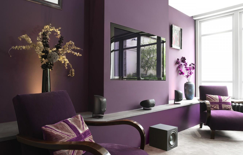Photo wallpaper House, Purple, Room, Interior, Style Design