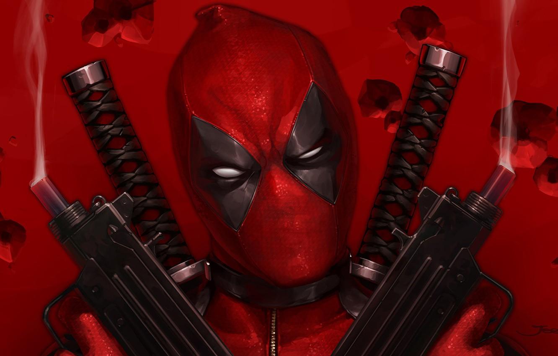 Photo wallpaper Figure, Gun, Mask, Art, Art, Deadpool, Marvel, Deadpool, Comics, MARVEL, Creatures, MARVEL Comics, JeeHyung lee, …