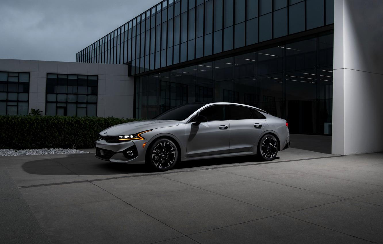 Photo wallpaper Parking, sedan, KIA, Kia, Optima, 2020, 2021, fastback, K5, K5 GT-Line AWD, Kia K5, KIΛ