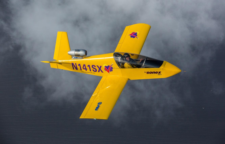 Photo wallpaper flight, the plane, pilot, jet, easy, Sonex
