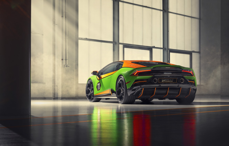 Photo wallpaper machine, Lamborghini, Evo, exhaust, Huracan, GT Celebration