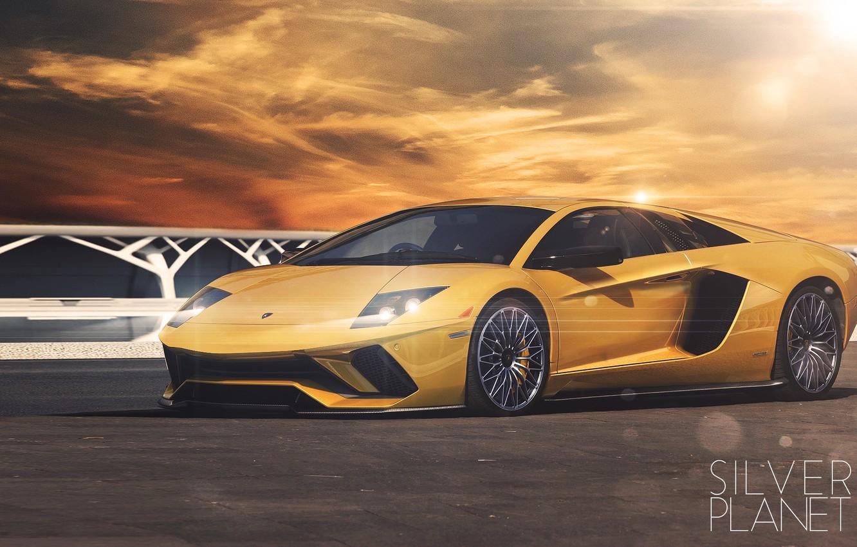 Wallpaper Auto Yellow Lamborghini Machine Car Car Art Gold