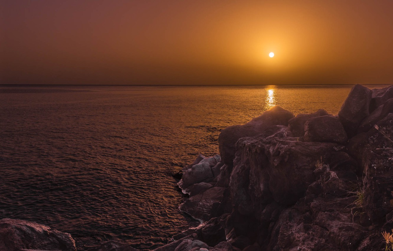 Photo wallpaper sunset, the ocean, rocks, The Atlantic ocean, Atlantic Ocean, Republic Of The Congo, Republic of …
