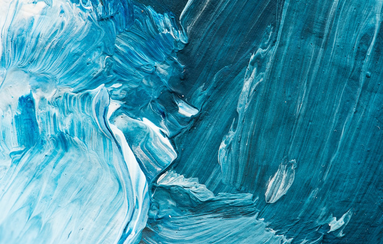 Photo wallpaper blue, paint, brushes