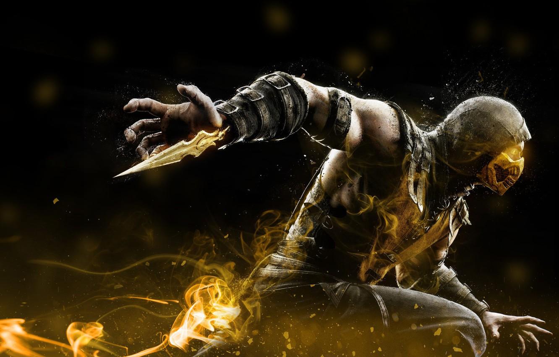 Wallpaper Art Mortal Kombat Scorpion Characters Mortal Kombat
