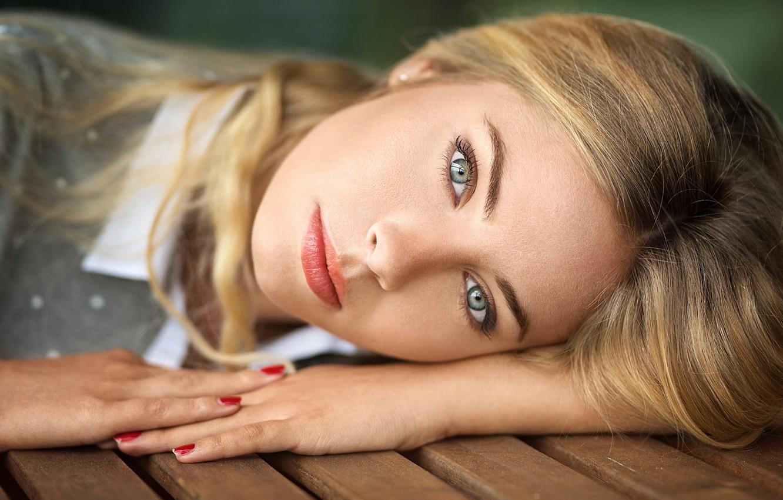 Photo wallpaper eyes, portrait, blue, blonde, photographer, beautiful, Eva mikulski, lods franck
