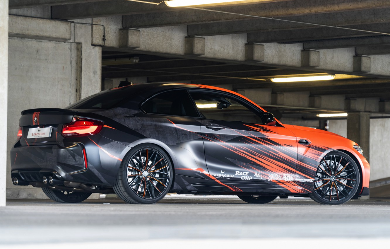 Photo wallpaper tuning, coupe, BMW, side view, 2020, F87, M2, BMW M2, M2 Competition, JMS vehicle parts