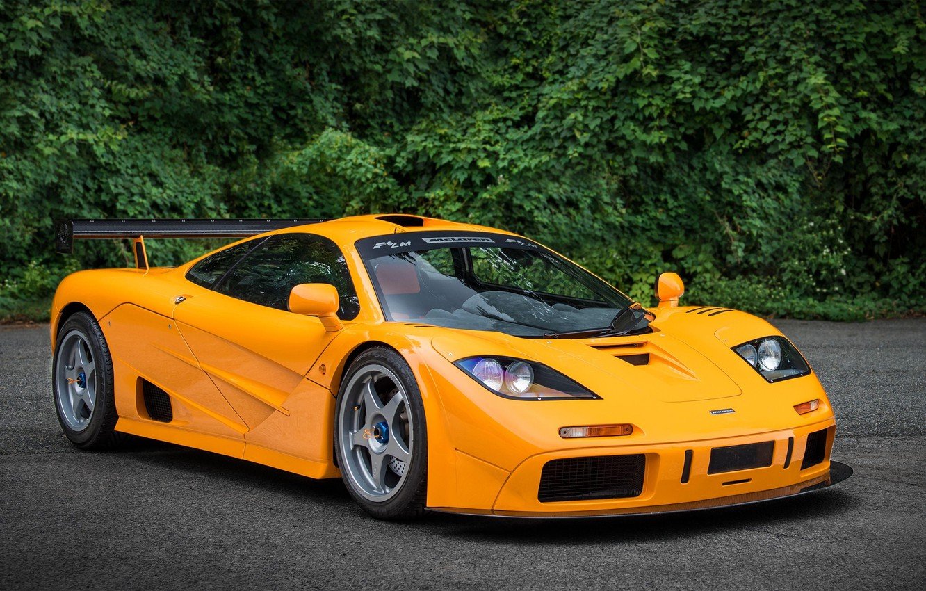 Photo wallpaper Orange, Supercar, McLaren F1, 1995, LM