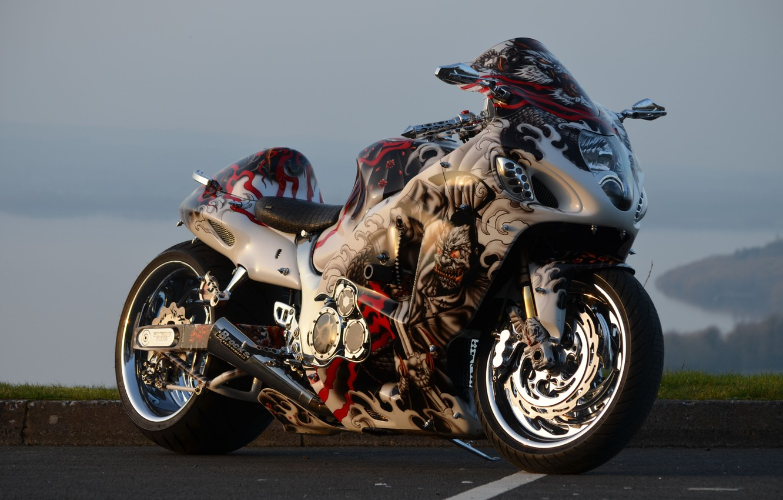 Photo wallpaper Suzuki, Hayabusa, Bike, GSX1300R