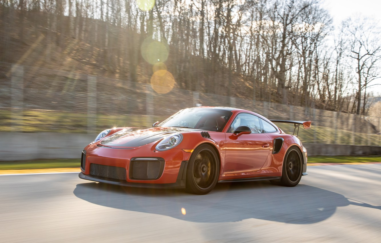 Photo wallpaper speed, 911, Porsche, turn, sports car, track, GT2 RS, 991 type II