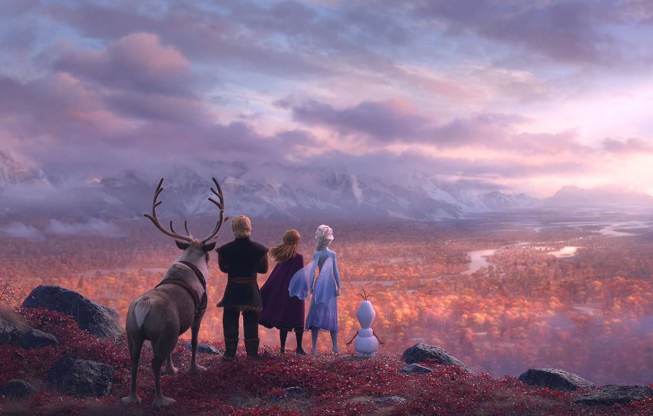 Photo wallpaper Frozen, Red, Fantasy, Nature, Blizzard, Beautiful, Anime, Wood, Winter, Anna, Tree, Queen, Snow, Girls, Female, …
