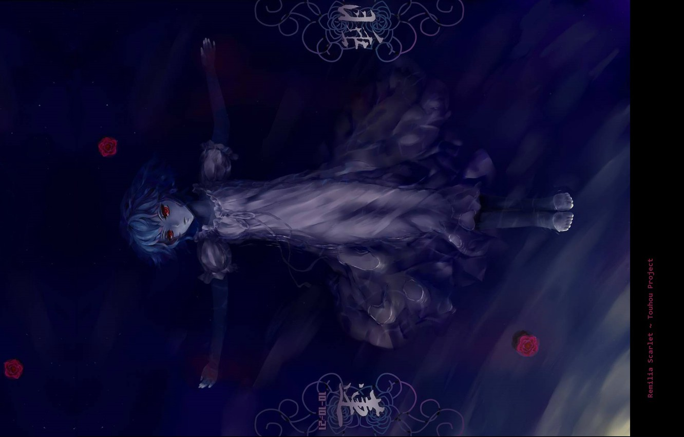 Wallpaper Red Eyes In The Water Vampire Touhou Project