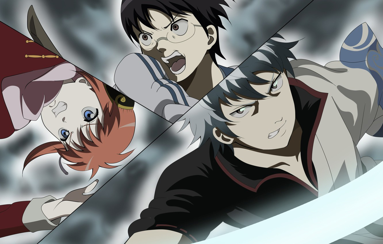 Photo wallpaper collage, characters, Gintama