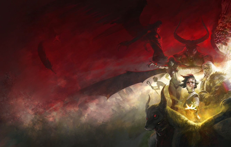 Demon Angel Fight Fantasy Art