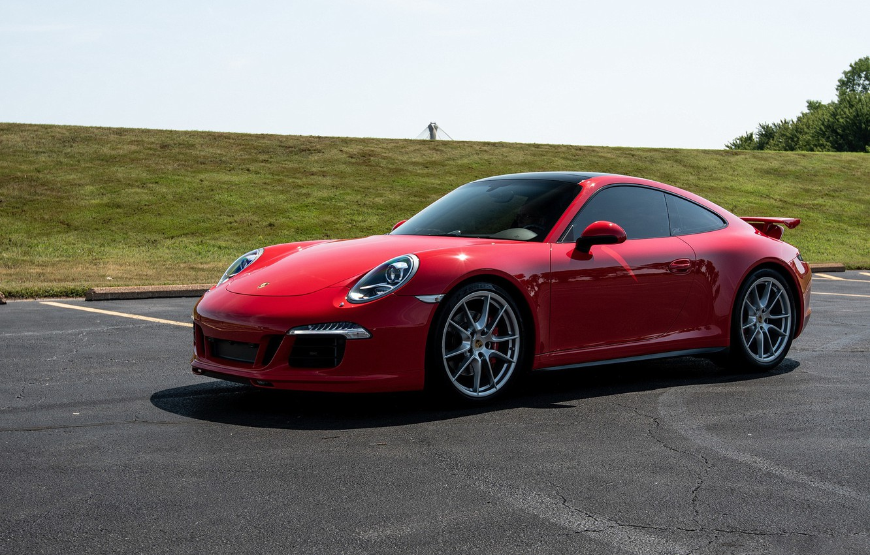 Photo wallpaper 911, Porsche, red