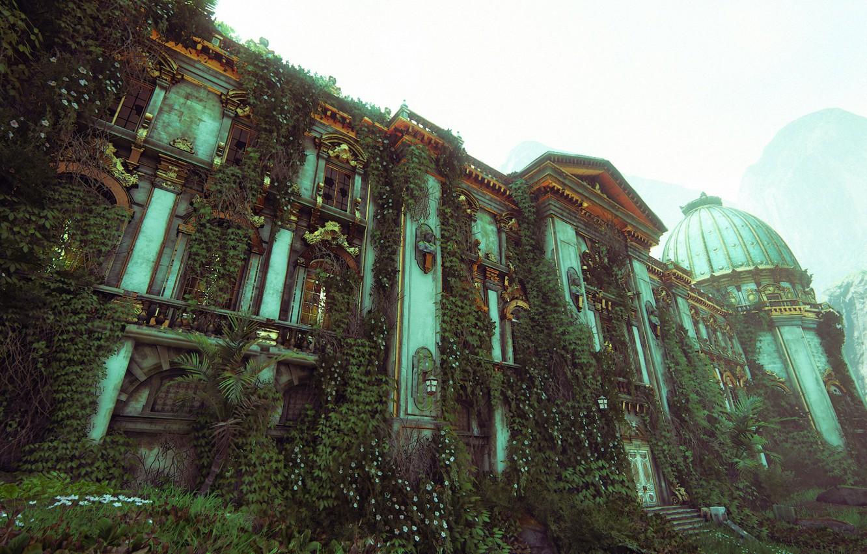 Photo wallpaper the building, Naughty Dog, Playstation 4, Uncharted 4: A Thief's End, Libertaliya