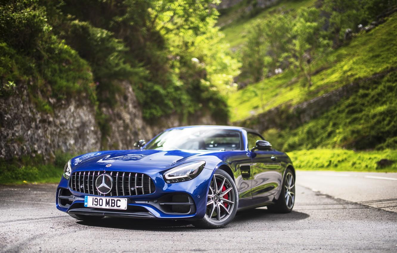 Photo wallpaper Roadster, Mercedes-Benz, AMG, 2019, GT C