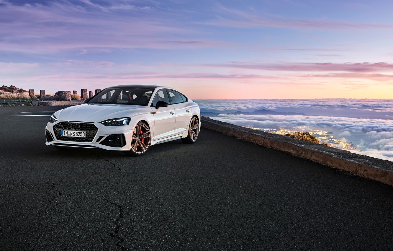 Photo wallpaper sunset, Audi, the evening, RS5, Sportback, RS 5, 2020